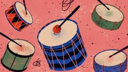 +curtas tambores