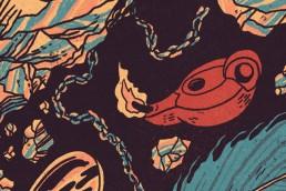 king solomon`s mine illustration