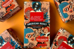 virginia coffee roasters packing